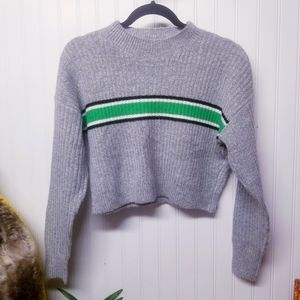 F21 Striped Cropped Sweater Size Small